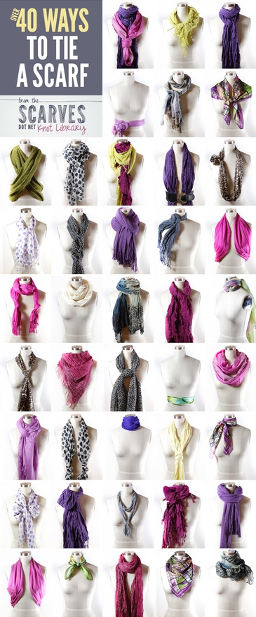 40+ ways to tie a scarf, scarf belt, scarves.net, getsnazzy.com