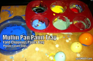 Muffin Pan Painting Tray Olympic Rings