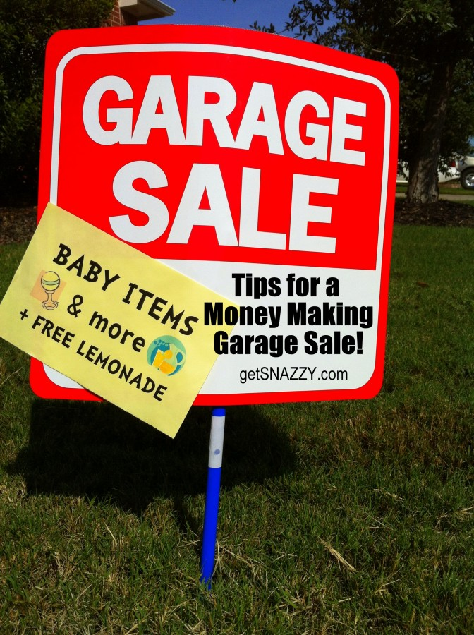 Garage Sale Sign - Tips for a money making garage sale yard sale getsnazzy
