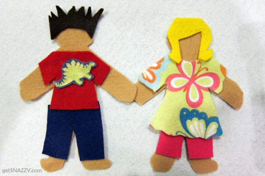 Felt Paper Dolls - EASY DIY Quiet Activity for Kids {Free Printable} getSNAZZY.com