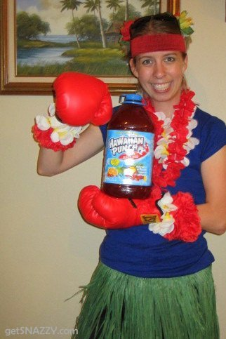 DIY Halloween Costume- Hawaiian PUNCH @getSNAZZY