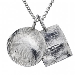 Loveprint #140R and SQ Sterling Silver 'baby' prints $115 each pendant - chain sold separately instamommy getSNAZZY