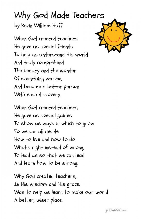 Free Printable - Why God Made Teachers Poem - Simple Teacher Gift Idea - getSNAZZY