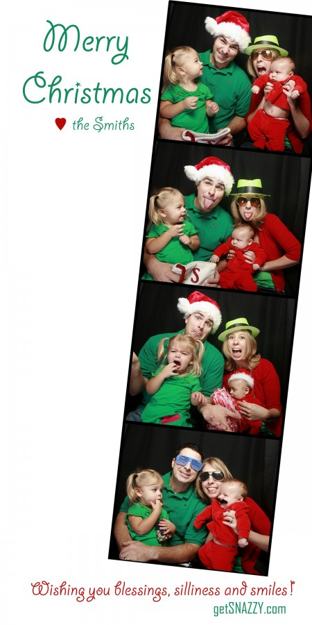 Fun Photo Booth Christmas Card + 100's of other ideas @getSNAZZY